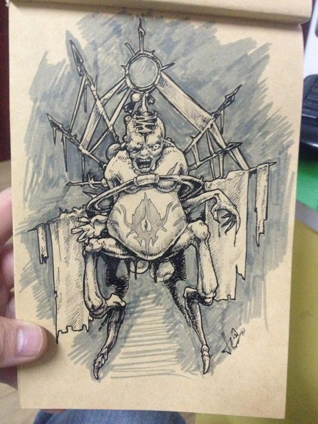 一组手绘练习稿-旭|绘画习作|插画|28509586