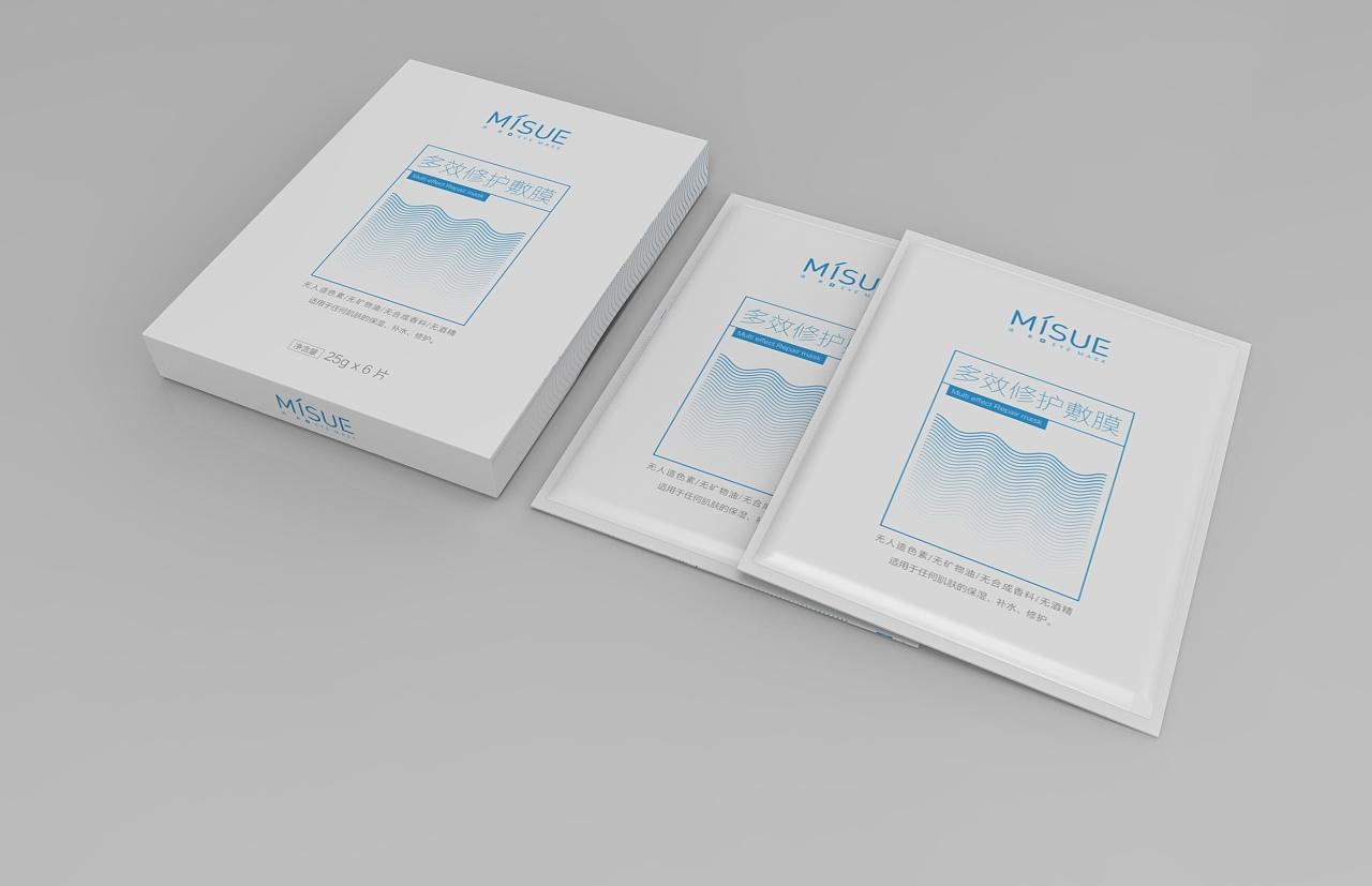 医疗面膜包装设计图片