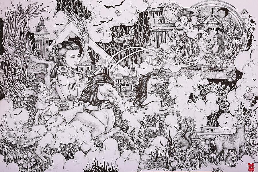 原创手绘插画|其他|其他|张赟