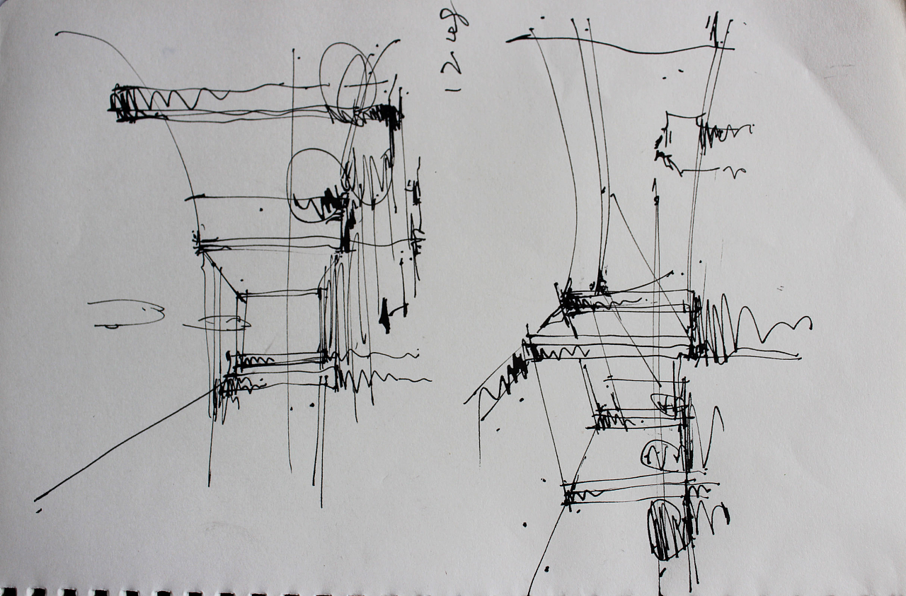 手绘效果图:工具钢笔,针管笔,马克笔,彩铅.