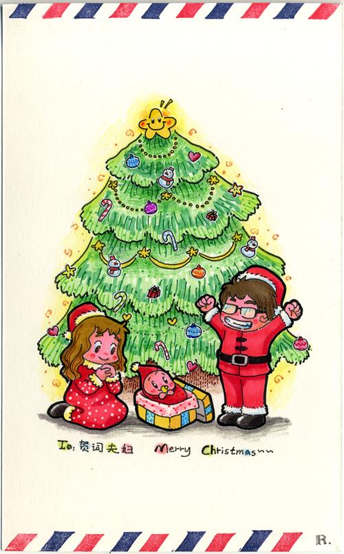 寄给朋友的手绘明信片|彩铅|纯艺术|rubyruby0729