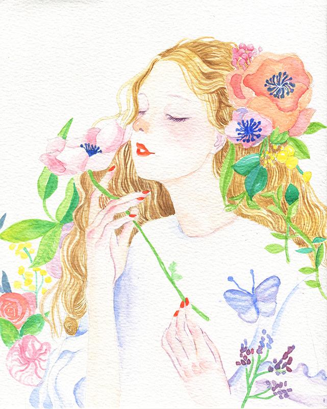 彩铅手绘--少女系|绘画习作|插画|在路上的zhu