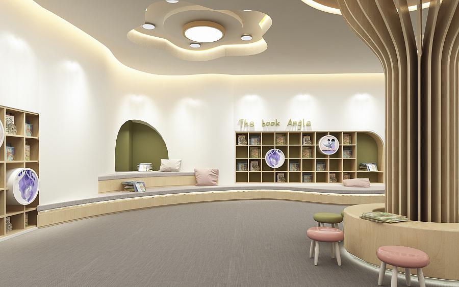 幼儿园图书馆设计 2017|室内设计|空间|w木头 - 原创