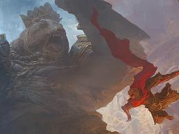 钟风华西游记新图《愤怒的黑熊精》