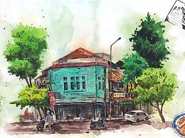 越南旅行水彩绘画记录(绘本14)