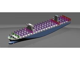 集装箱船三维模型