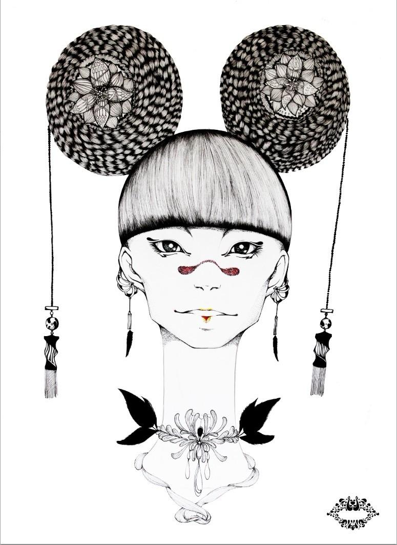 查看《JAMU時尚插畫之十二生肖合集》原图,原图尺寸:775x1062