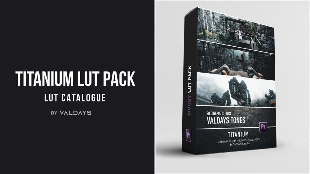 【P396】Valentyn莫兰迪视频调色预设Valdays Titanium LUT Pack (Master)含4K样片