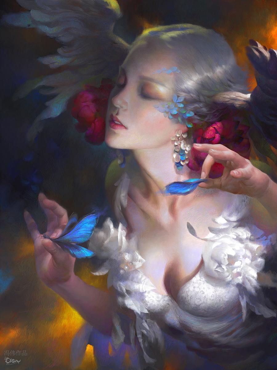 查看《元素动力冯伟新作——大蓝闪蝶之死》原图,原图尺寸:2999x4000