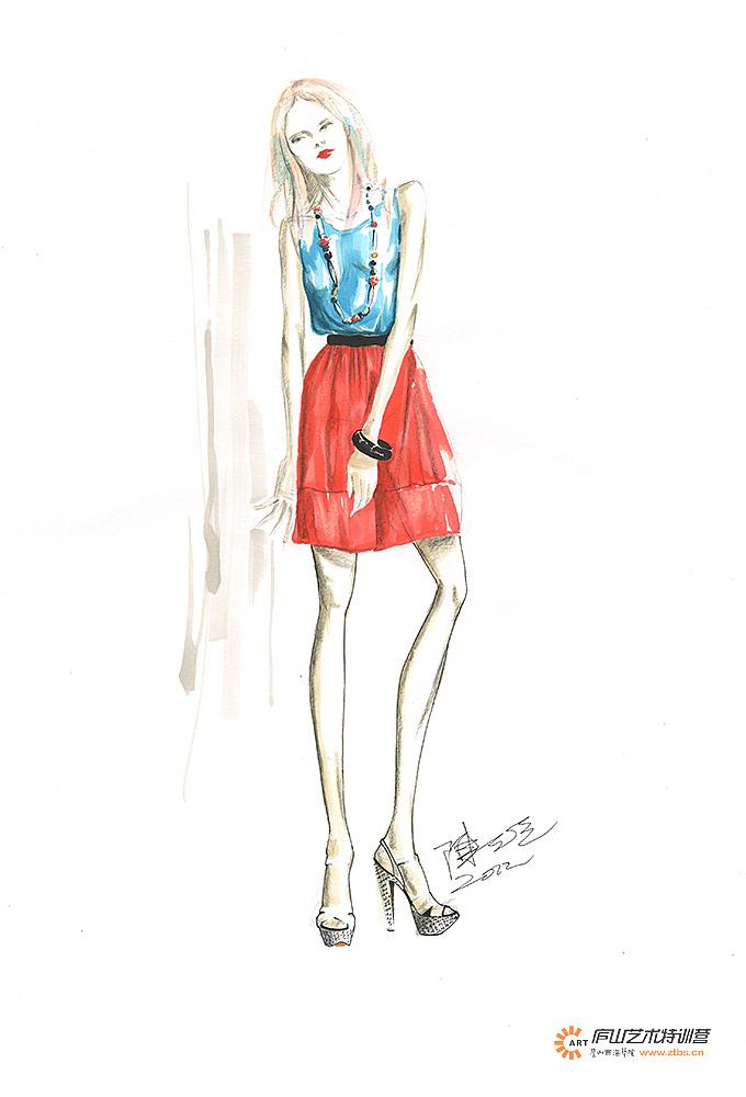 服装马克笔手绘系列——陈石英老师