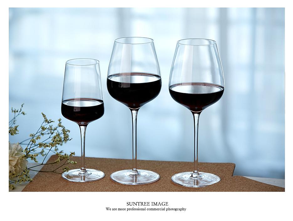 玻璃酒杯拍摄图片