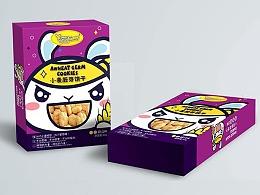 儿童饼干包装的兔子系列插画