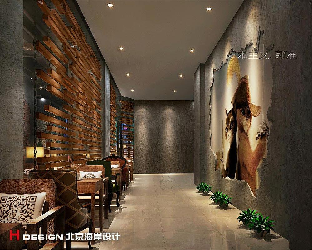 河南平顶山漫猫空间房屋设计咖啡|餐饮|室内设计|海岸当阳湖北案例设计图片