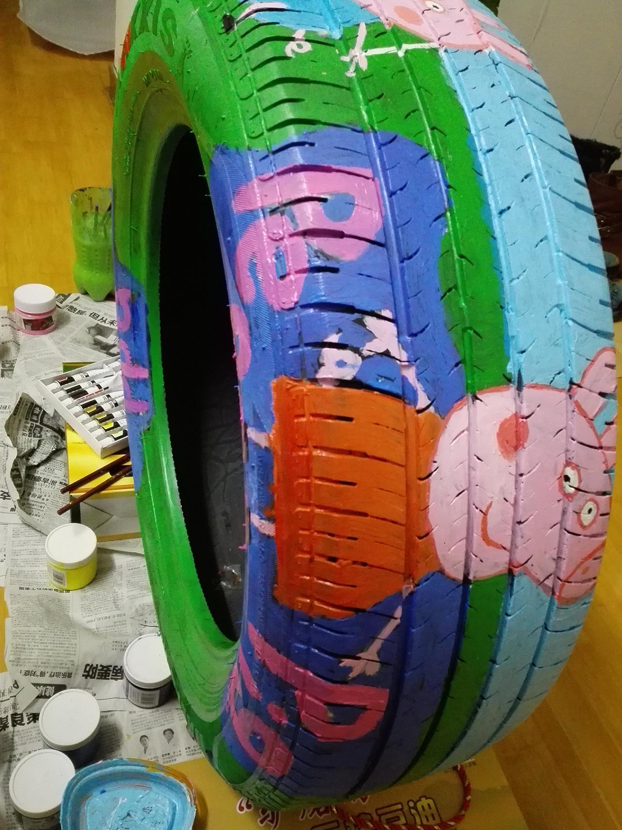 轮胎涂鸦_轮胎涂鸦