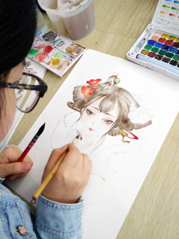 水彩画绘画过程(武汉零基础学水彩画)|水彩|纯艺