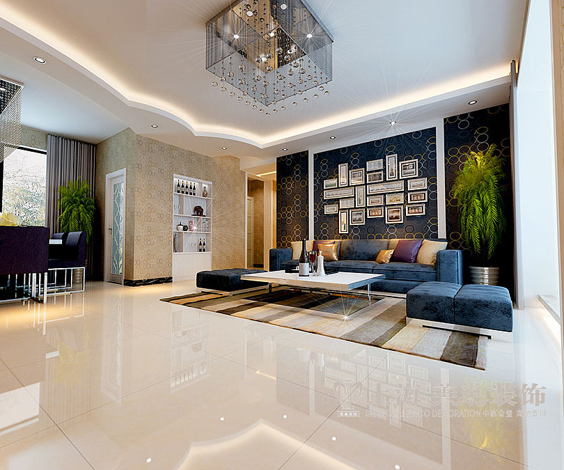 裕华光合世界138平方三室两厅装修效果图