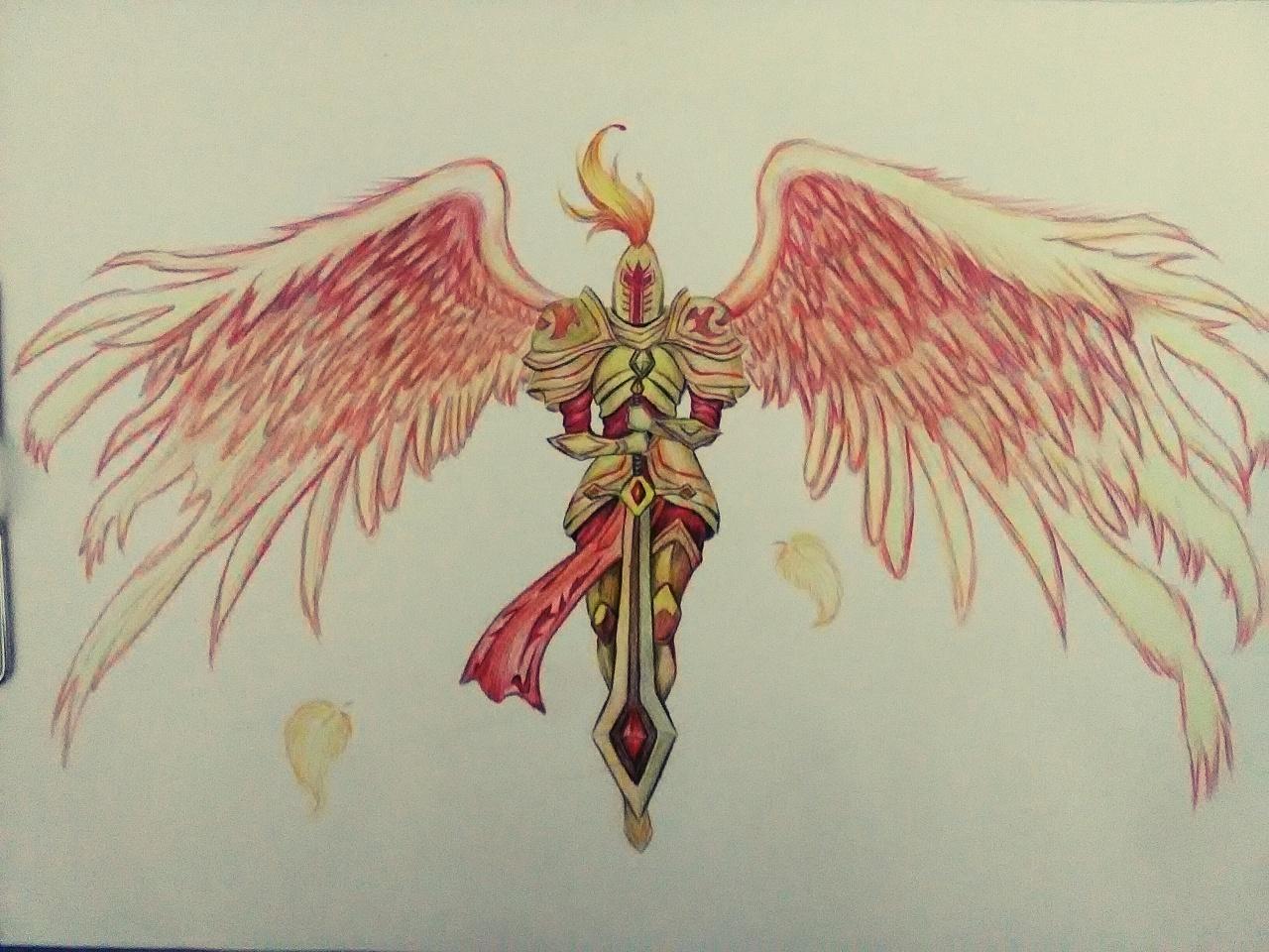 彩铅手绘英雄联盟人物