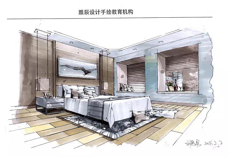 手绘表现效果图,|空间|室内设计|tyj毕下 - 原创作品
