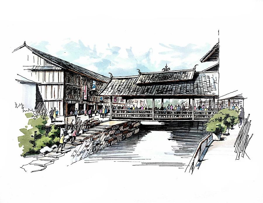古建筑简笔画-古建筑简笔画 步骤/家乡的古建筑简笔画/中国古建筑儿童