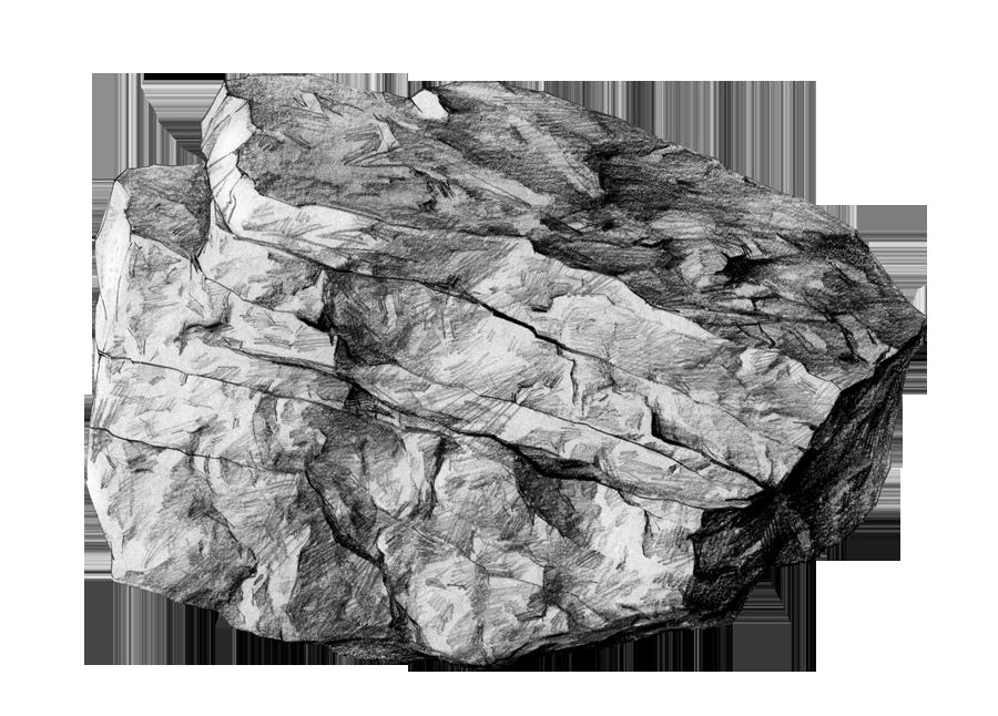 【psd-diy手绘素描】.分层素材-岩石|概念设定