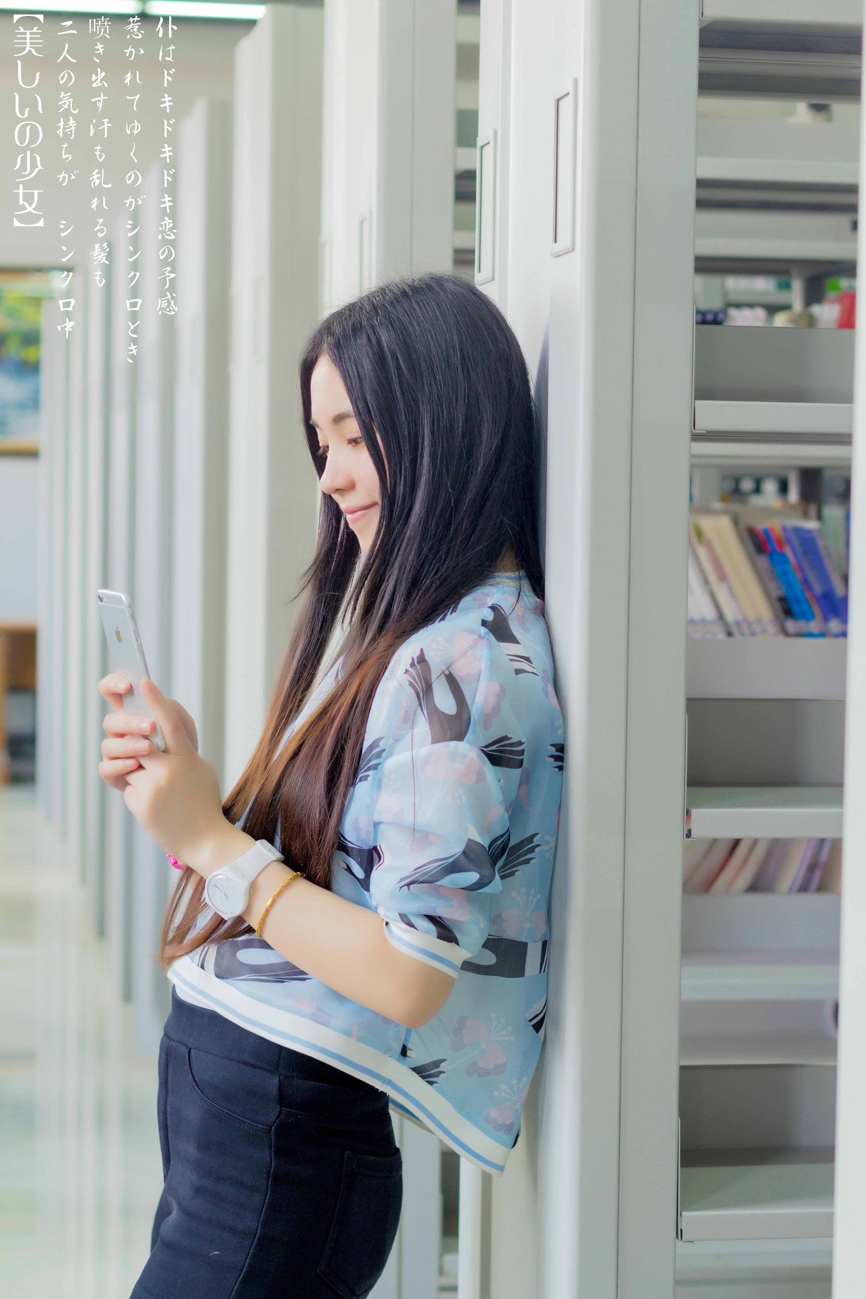 【图书馆の美少女】|摄影|人像|luran7 - 原创作品图片