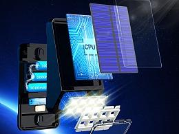太阳能户外灯 亚马逊电商产品展示 3C设计