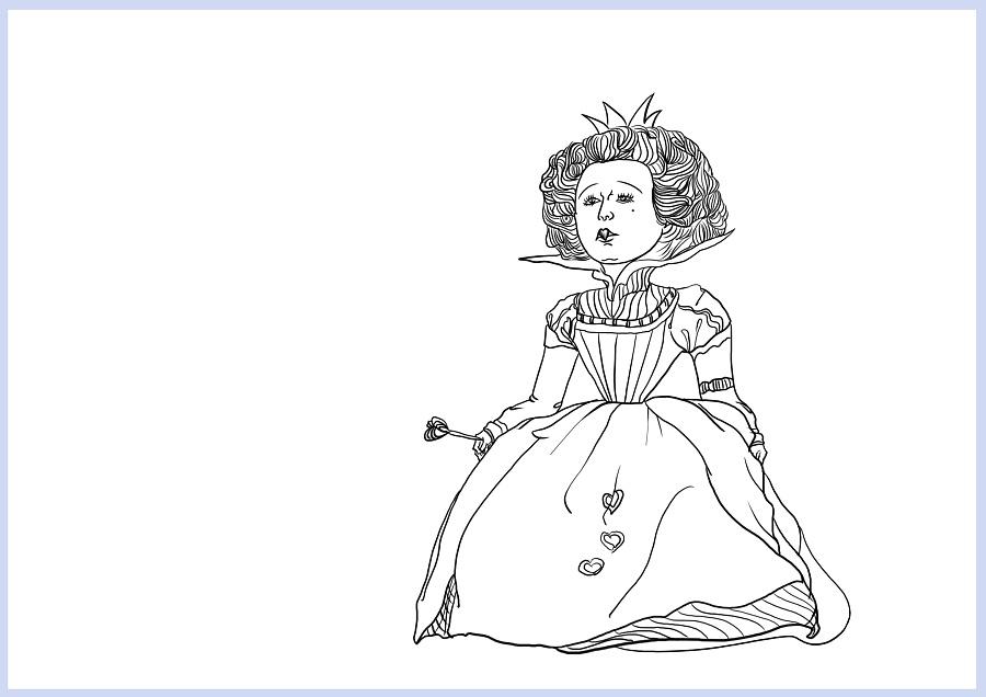 【手绘习作】爱丽丝梦游仙境 人物手绘 线稿