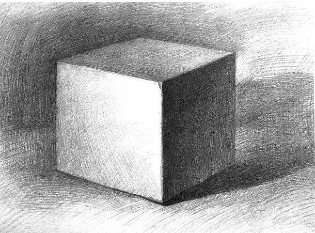 手绘球体 方体 锥体