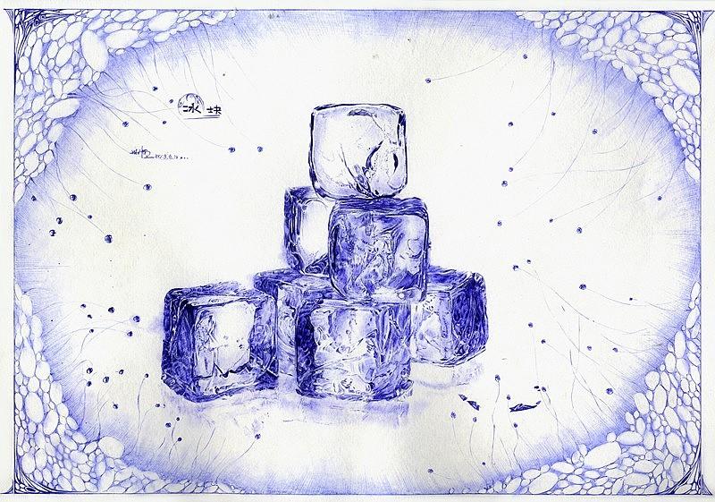 手绘冰块的画法