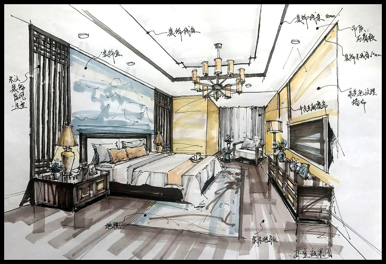 新中式室内形状方案设计用dw绘制的空间出来不显示图片