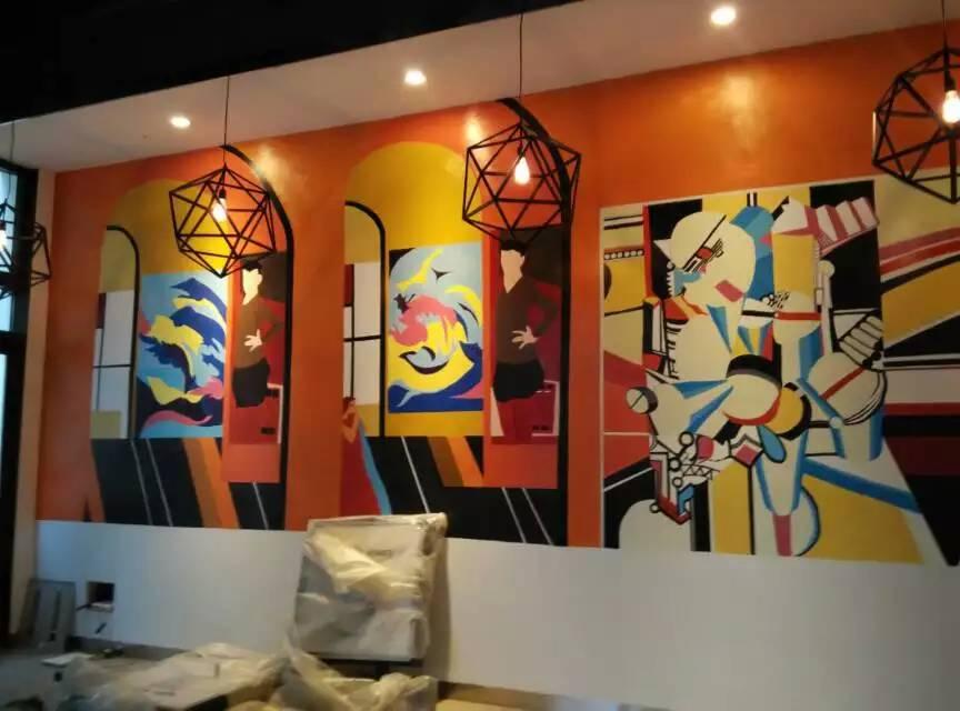 主题酒吧墙绘|其他艺创|纯艺术|cs设计工作室图片