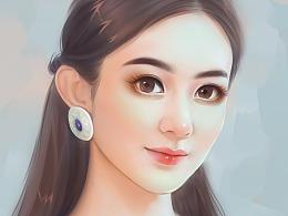 手绘人物——赵丽颖