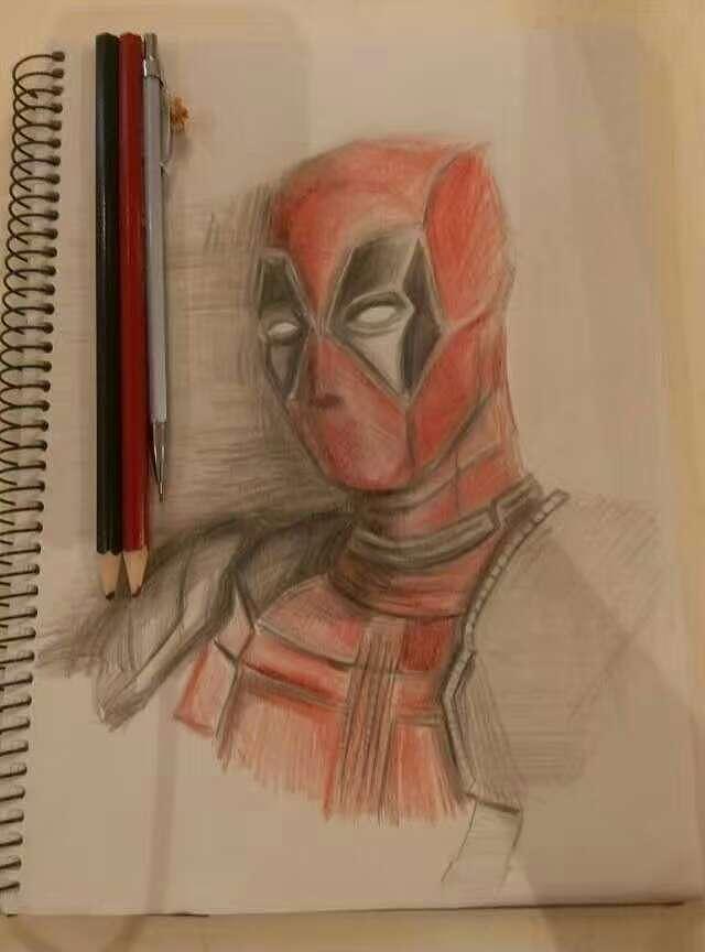 死侍铅笔画教程