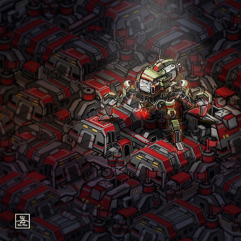恐怖机器人 插画 插画习作 詹家宏 - 原创作品 -