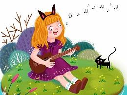 弹琴的姑娘