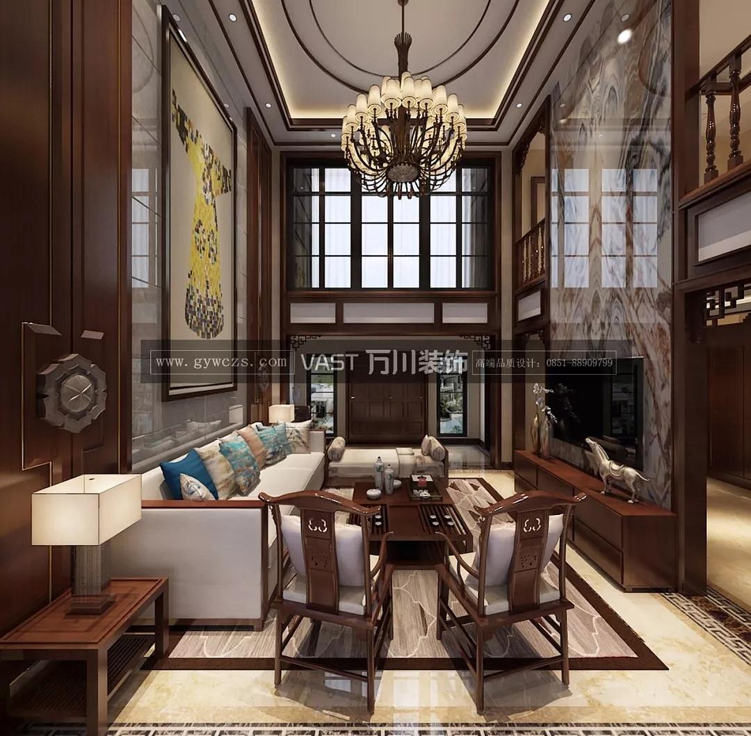 贵阳中航城仓鼠278平米中式城堡装修设计效果图别墅别墅风格图片