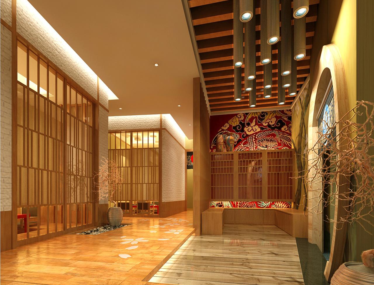 中式技巧空间设计--敕勒川|空间|展示设计|Dou劫的视频小餐饮图片