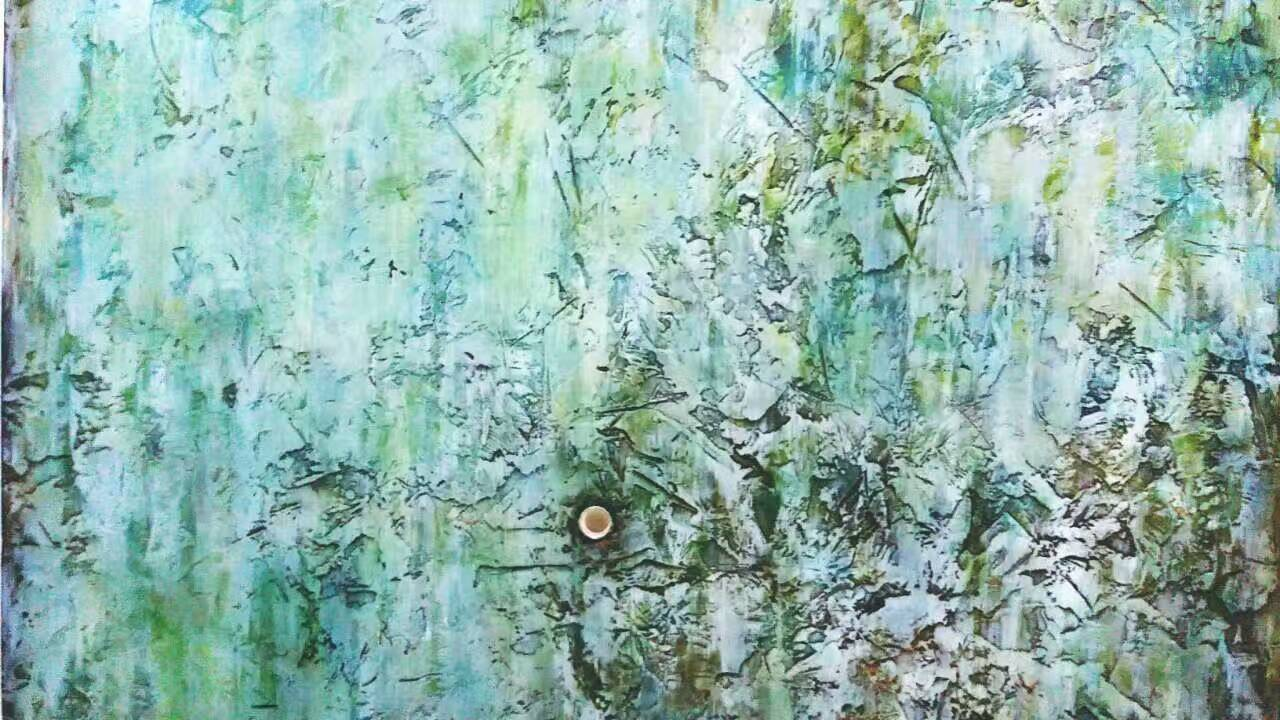 浮雕.手绘与硅藻泥