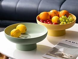 电商产品摄影 北欧简约风纯色水果盘 塑料零食盘