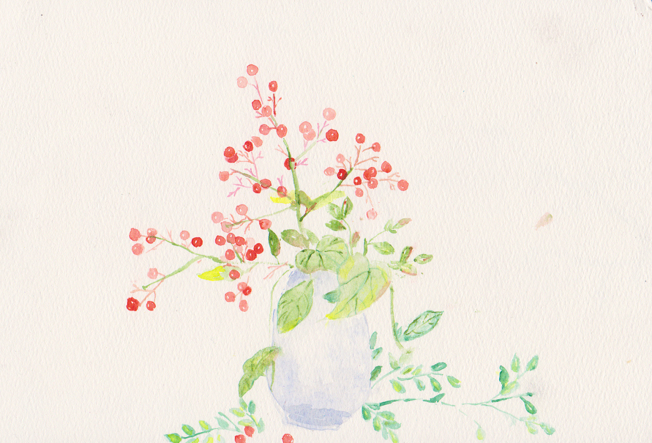 水彩手绘钢笔素描小清新原创插画主题艺术绘本