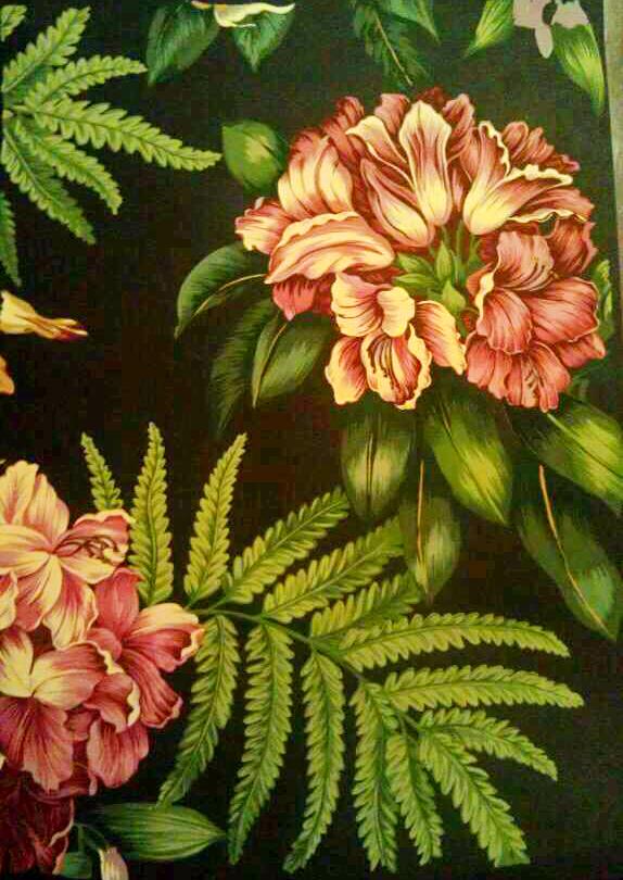 手绘花卉技法(拓笔撇丝)临摹,毛笔手绘