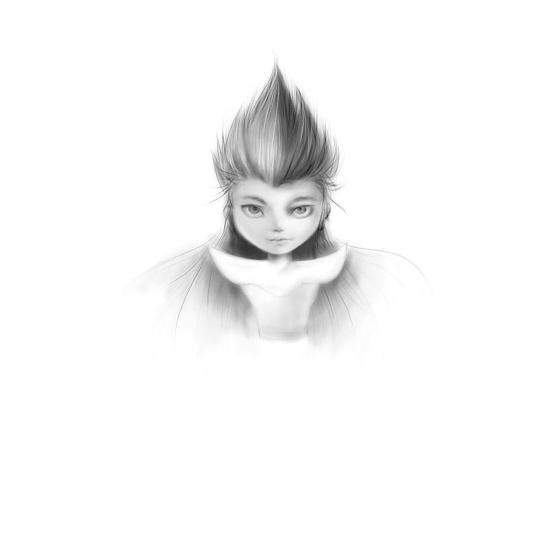 用数位板手绘一张卡通插画人物头像 古风武侠角色男形象 水墨板绘图文教程