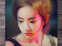 【刘亦菲——二代妖精】彩铅手绘