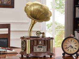 东莞产品拍摄 老式留声机模型 复古留声机老 唱片机