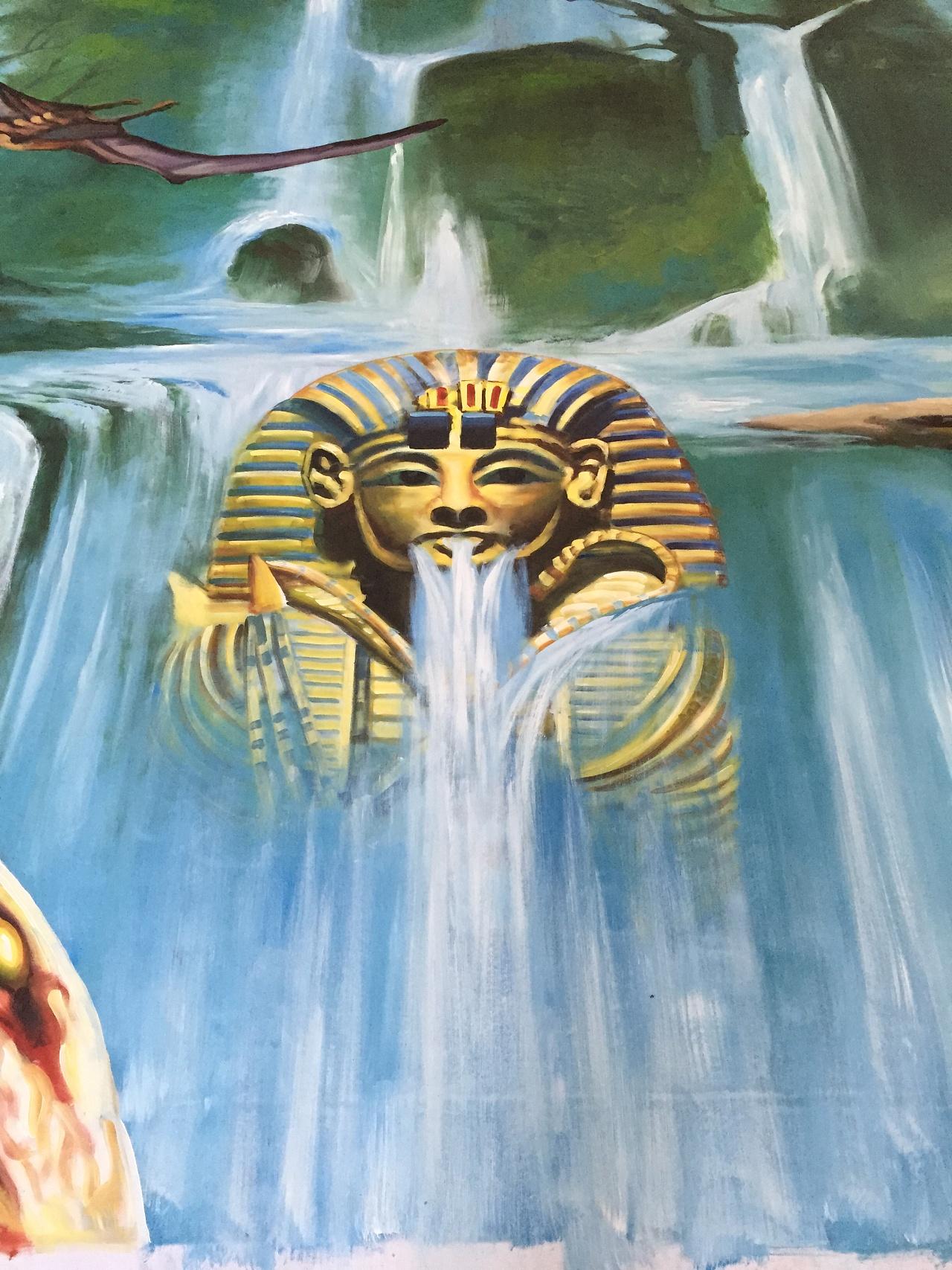 埃及神坛 纯手绘3d立体画
