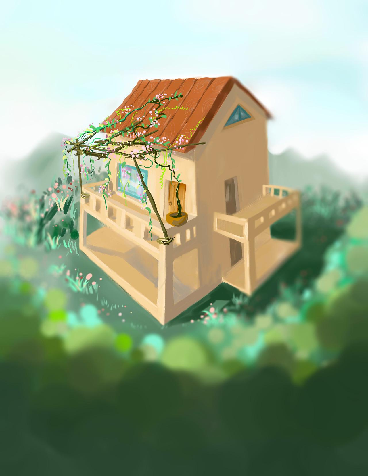 尝试画的小房子