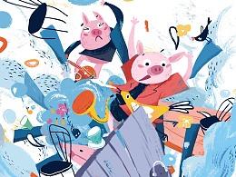 三只小猪儿童绘本