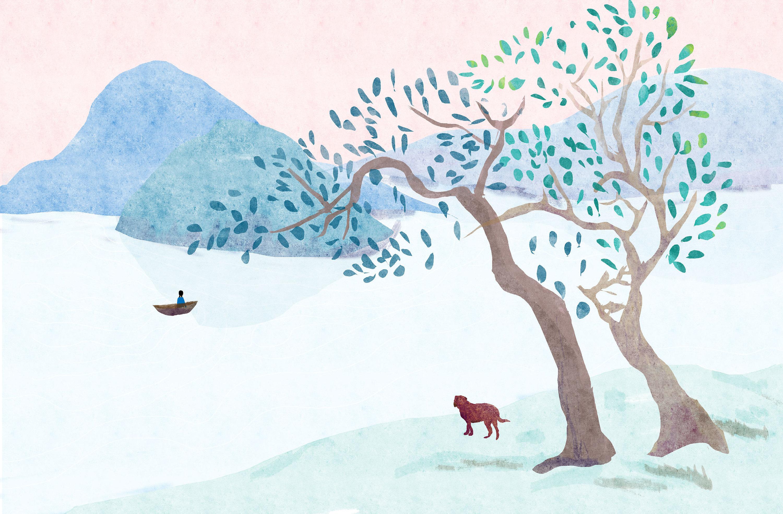 山水森系插画人小清新树 作品信息 相关作品收录收藏夹成为第一个评论