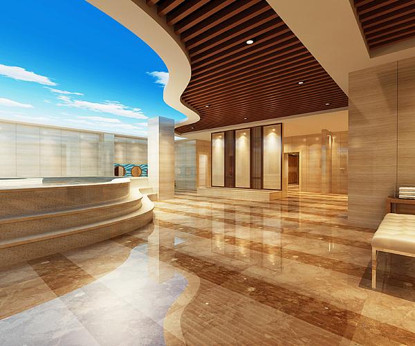荥阳碧泉洗浴会所装修设计效果图 郑州洗浴装修设计