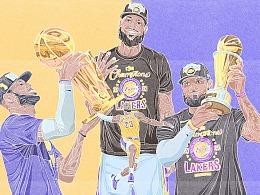 恭喜湖人获得2020年NBA总冠军